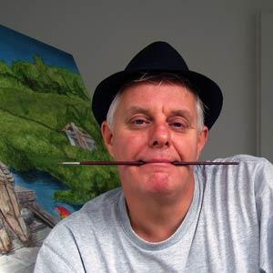 Portret met hoed en penseel