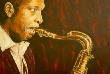 Henk Smeekes_Portret van John Coltrane