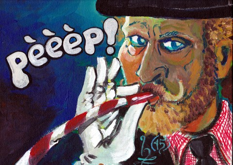 Hanz-Art hangt in DeSpeeldoos