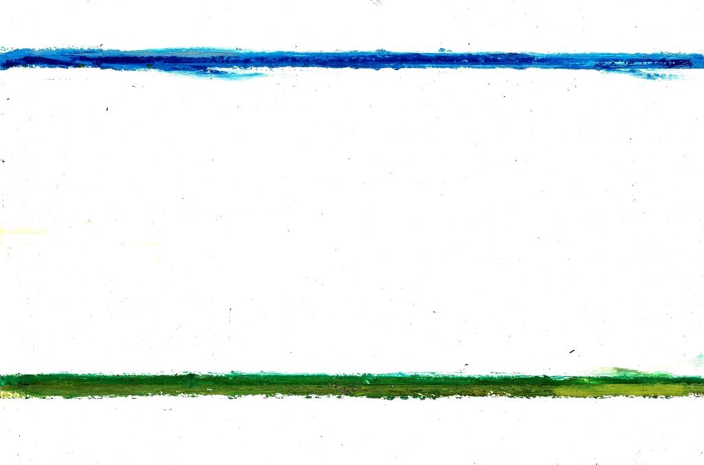 Landschap naar Louisa - oilstick op papier